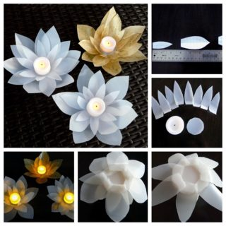 Wonderful DIY Beautiful Milk Jug Votives