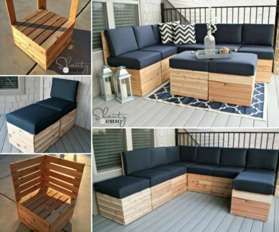 50 wonderful pallet furniture ideas and tutorials. Black Bedroom Furniture Sets. Home Design Ideas