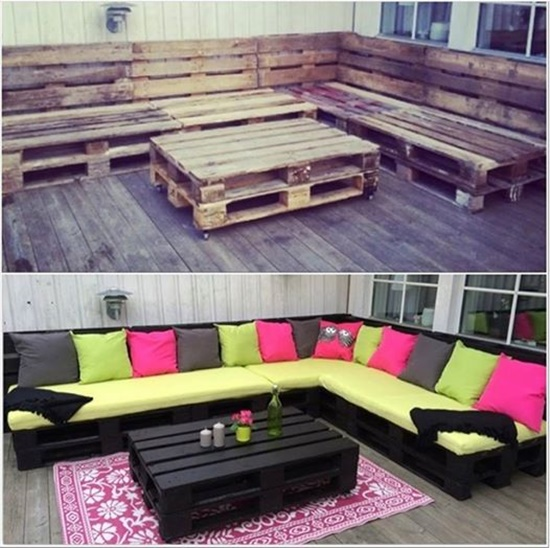 VIEW IN GALLERY Pallet Lounge 50 Wonderful Pallet Furniture Ideas And  Tutorials