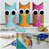 Wonderful DIY Cute Paper Roll Owls