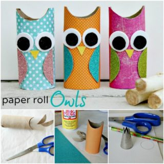Wonderful DIY Cute Paper Roll Owls