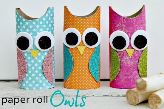 Paper Roll Owls1 Wonderful DIY Cute Paper Roll Owls