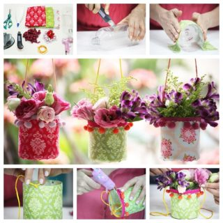 Wonderful DIY Pretty Hanging Vases From Recycle Bottle
