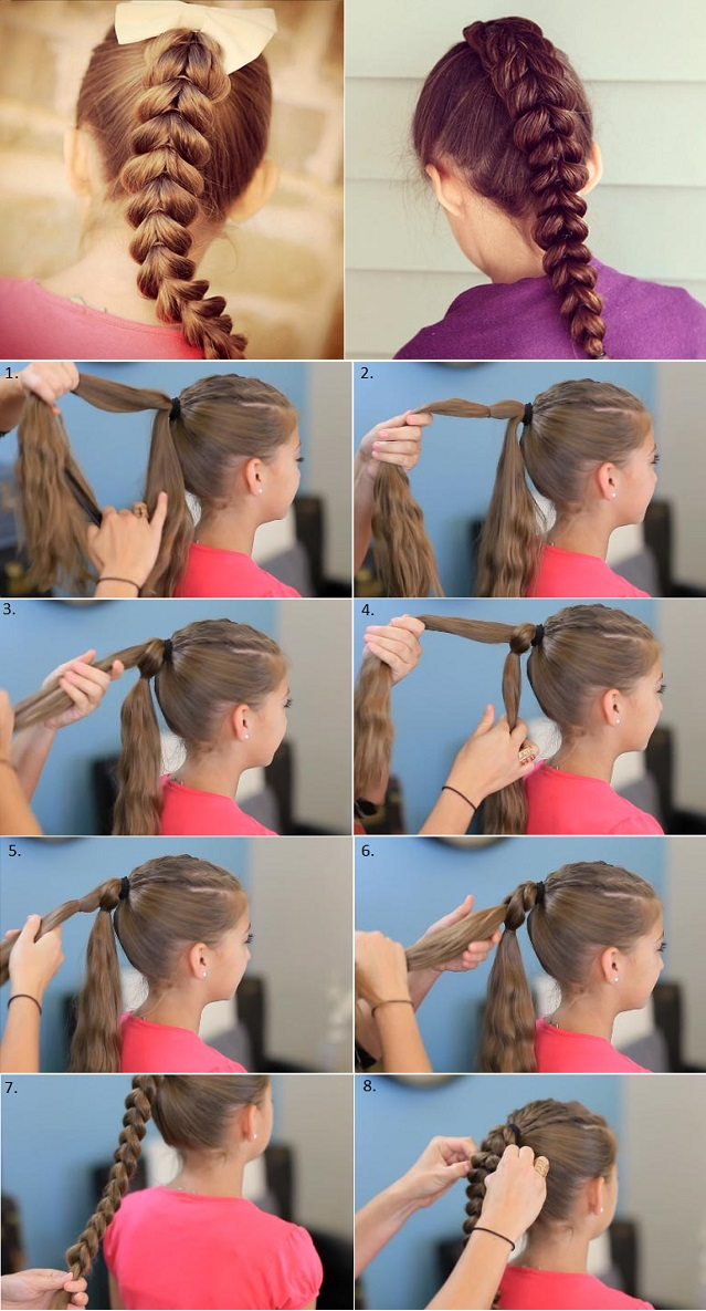 Pull Through Braid hairstyle M Pull Through Braid Hairstyle   Salon Quality Results at Home
