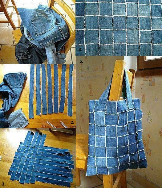 Wonderful DIY New Handbag From Old Jeans