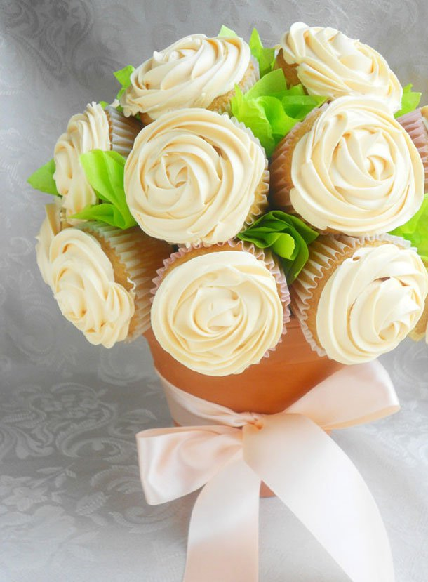 Rose cupcake bouquet ideas