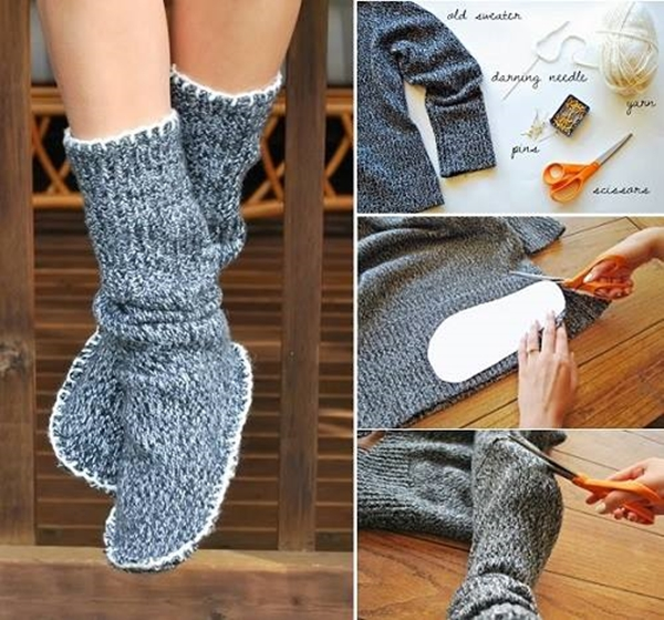 Sweater Slipper Boots F