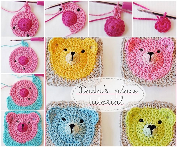Teddy Bear Granny Squares Adorable DIY Crochet Teddy Bear Blanket