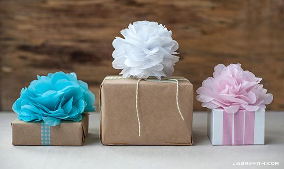 Tissue Paper Pom poms 0 Wonderful DIY Tissue Paper Pom Pom Flowers