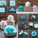 Wonderful DIY Tissue Paper Pom Pom Flowers