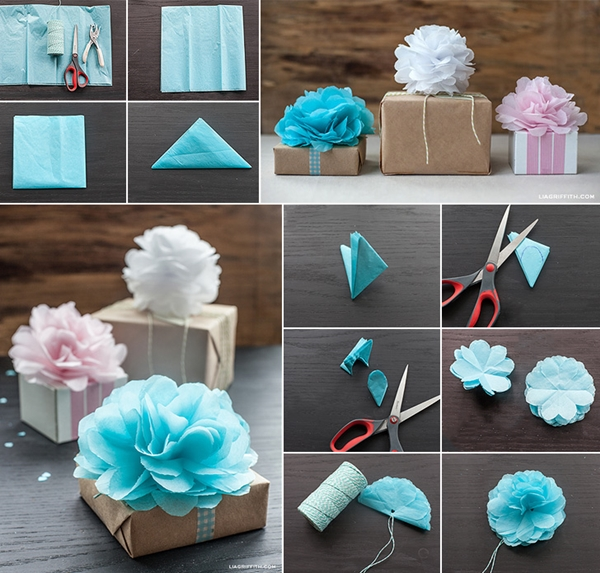 Wonderful diy tissue paper pom pom flowers view in gallery tissue paper pom poms f mightylinksfo