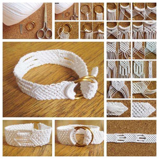 White Cotton Macrame Bracelet F
