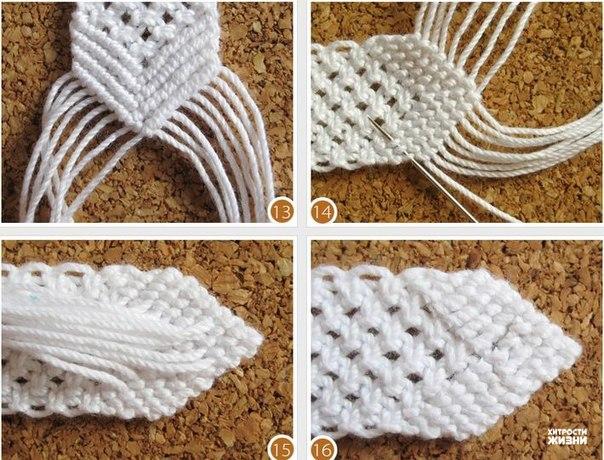 White Cotton Macrame Bracelet4