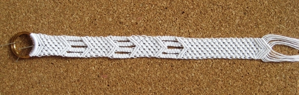 White Cotton Macrame Bracelet5