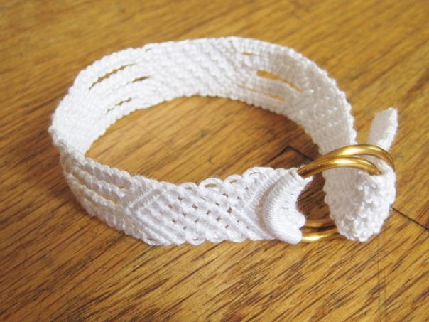 White Cotton Macrame Bracelet6