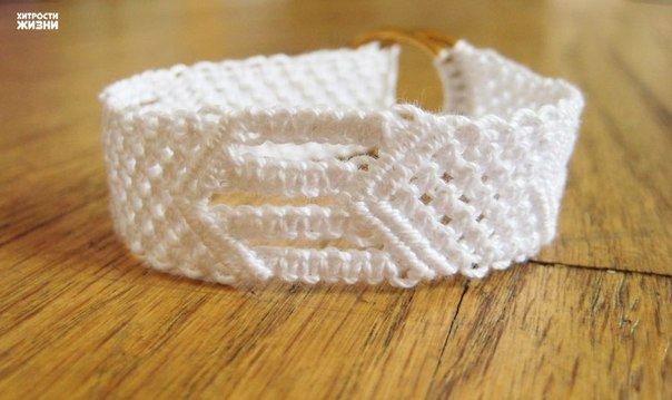 White Cotton Macrame Bracelet8