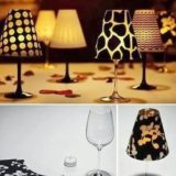 Wonderful DIY Wine Glass Candle Lampshades