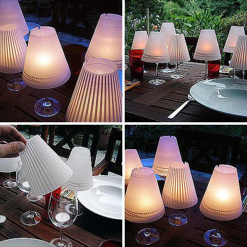 Wine Glass DIY Lampshades