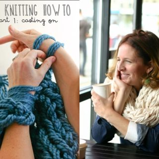 Wonderful DIY Super Easy Arm Knitted Scarf