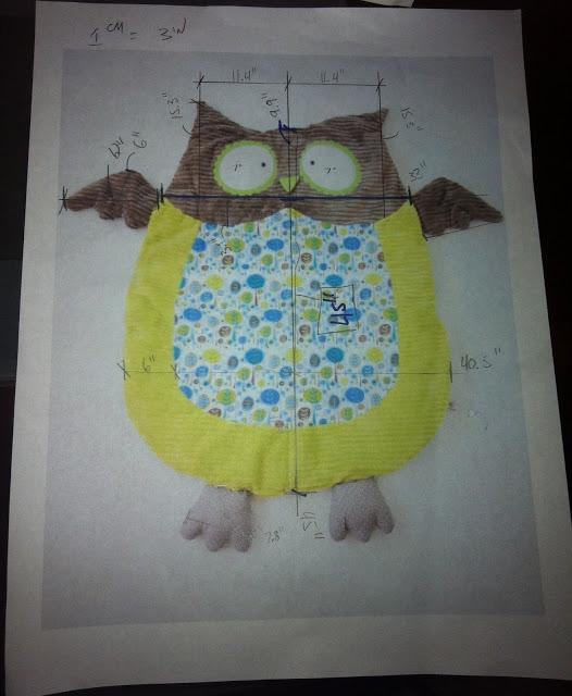 baby owl floor mat1 Wonderful DIY Cute Baby Owl Mat