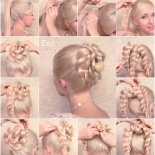 Wonderful DIY Braided Bun Hairstyle With Clip