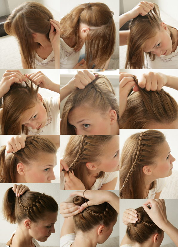 braided hairdo1 Wonderful DIY Pretty Braided Hairdo
