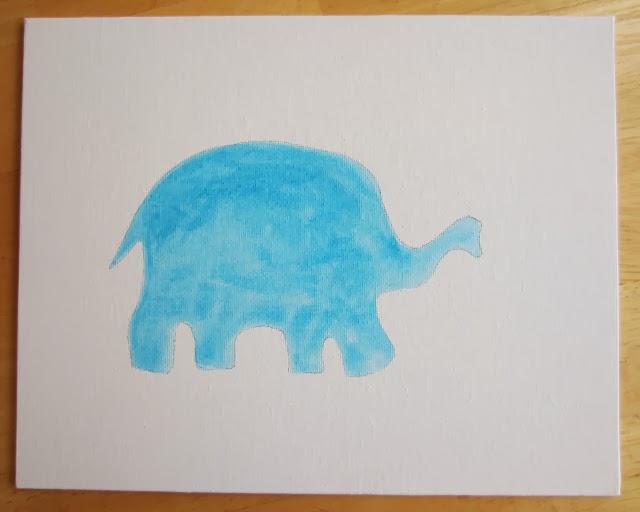 button elephant wall art2 Wonderful DIY Button Elephant Wall Art