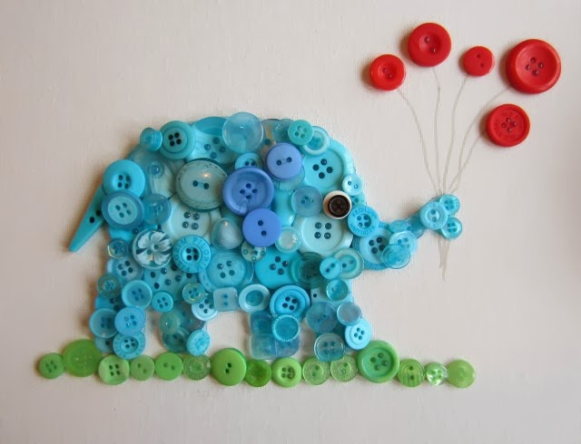 VIEW IN GALLERY button-elephant-wall-art5 & Wonderful DIY Button Elephant Wall Art