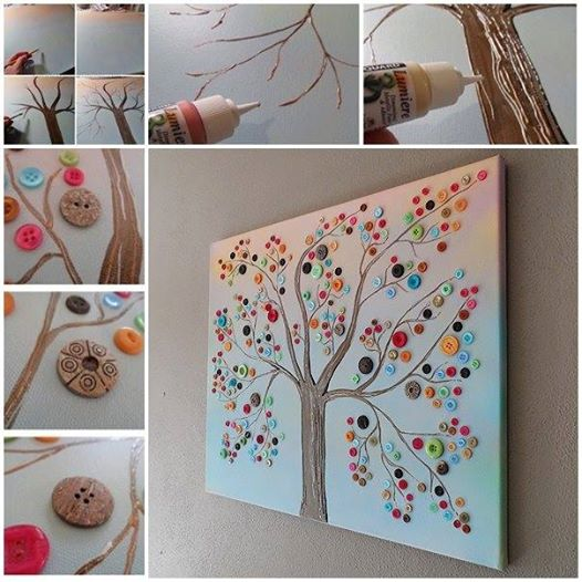 View In Gallery On Tree Wall Decor Wonderful Diy Vibrant