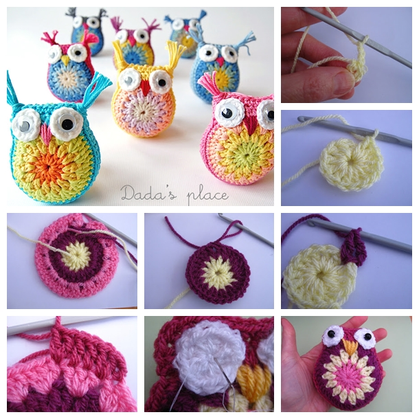 Owl - Key Chain - Bag Dangler - Crochet Pattern | 610x610
