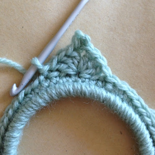 crochet star photo frame5
