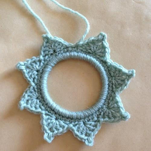 crochet star photo frame6