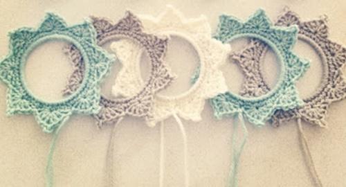 crochet star photo frame8