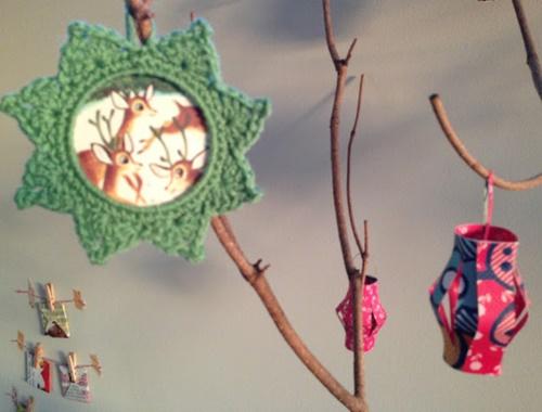 crochet star photo frame9-1