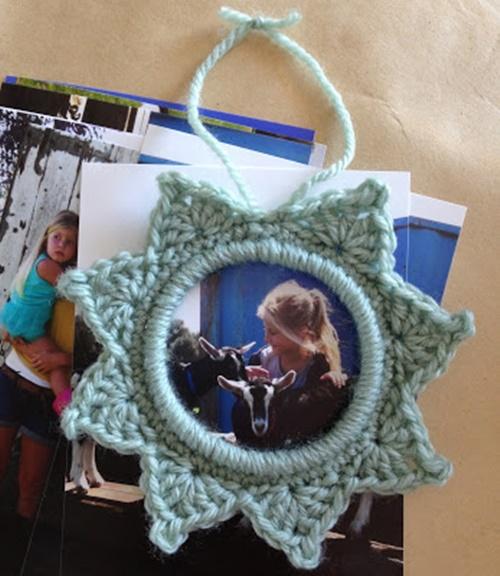 crochet star photo frame9-2