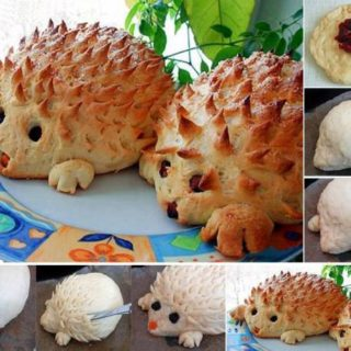 Wonderful DIY Lovely Hedgehog Bread