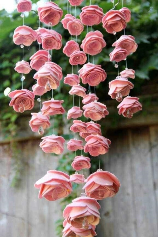 diy beautiful felt rose mobile 1 Wonderful DIY Lovely Felt Rose Mobile