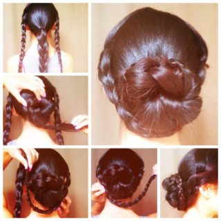 Wonderful DIY Popular Braided Bun Hairstyle