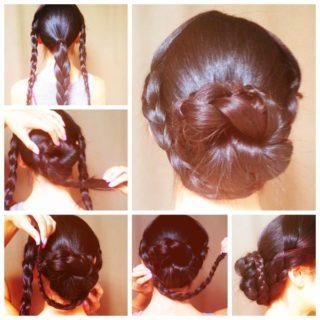 Wonderful DIY Popular Braided Bun Hairstyle