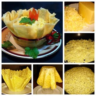 Wonderful DIY Yummy Edible Cheese  Bowl With Salad