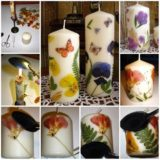 Wonderful DIY Decorate  Candles With Dry Flowers