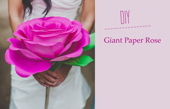 diy giant paper rose 01 Wonderful DIY Giant Paper Rose