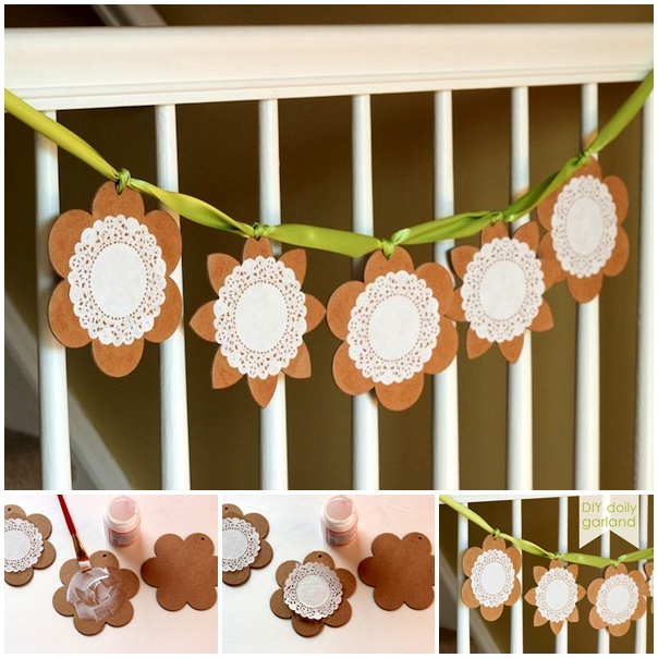 doily banner wonderfuldiy Wonderful DIY Super Easy Lace Flower