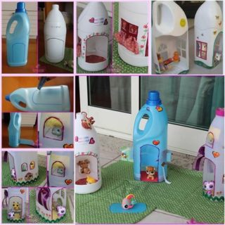 Wonderful DIY Doll House From Recycle Bottles