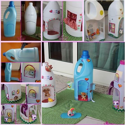 doll house from plastic bottle