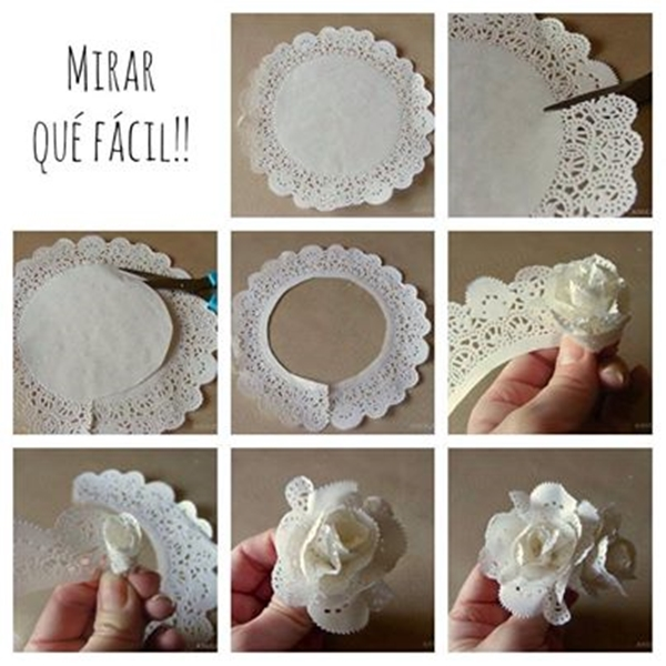 easy lace flower Wonderful DIY Super Easy Lace Flower