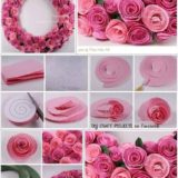 Wonderful DIY Beautiful Felt Rose Wreath