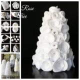 Wonderful DIY Beautiful Table Felt Rose Tree