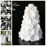 Wonderful DIY Beautiful Table Felt Rose Tree