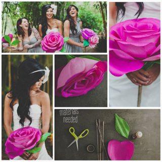 Wonderful DIY Giant Paper Rose